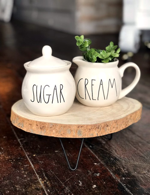 Rae Dunn Large Letter Sugar And Cream Set Flipping The